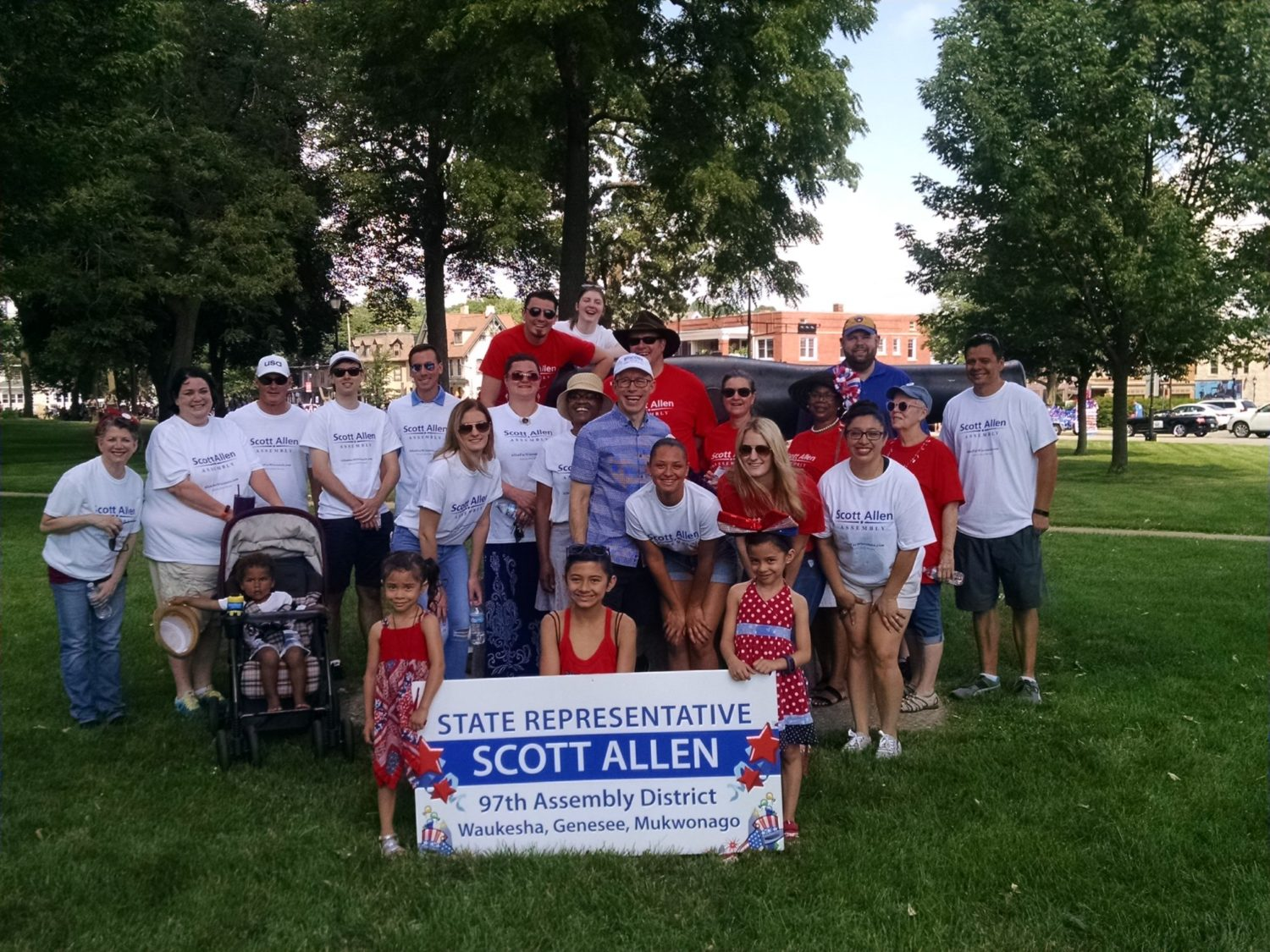 Rep Scott Allen Parade Team 2018