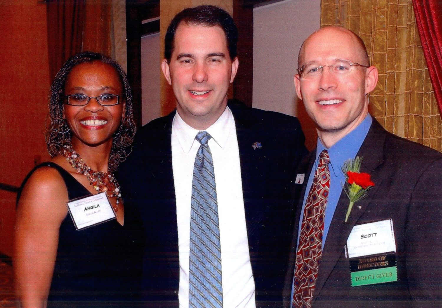 Scott Walker with Angila & Scott Allen